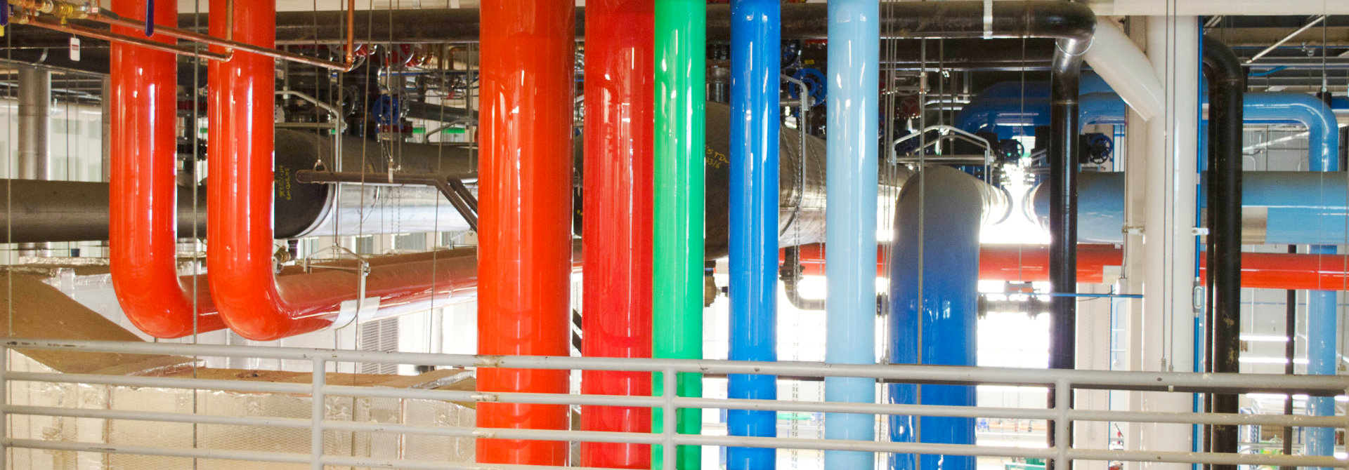big different color pipes
